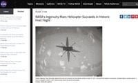 """盘旋30秒!""""机智""""号直升机火星首飞成功"""