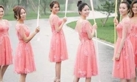 选伴娘服很用心的女星,阿娇伴娘服不输婚纱,杨幂为唐嫣量身定制!