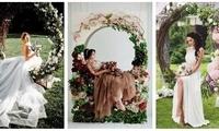 看完这30张绝美照片 你就知道圆形拱门在婚礼上有多重要了