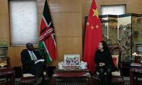 驻肯尼亚大使孙保红会见非洲政策研究所所长卡格万加教授