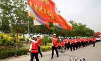 沧州千余人南大港湿地举行健步走活动(图)