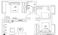 90㎡的4房居室,空间不但不拥挤还很宽敞
