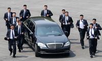 朝韩首脑会晤结束金正恩返朝 保镖小跑护送