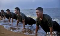 """第71军""""临汾旅""""官兵海训:海中蛟龙搏风浪"""