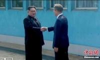 韩媒直播朝韩首脑握手瞬间:实时收视率高达34.06%