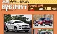 自由光优惠3万元 合资中型SUV降价排行