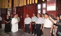 全国政协常委、民宗委主任朱维群一行到武汉长春观调研