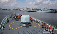 海军黄山舰圆满完成多国海军联合演习返航靠港