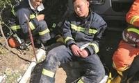 南通48名消防指战员在响水救援现场昼夜鏖战