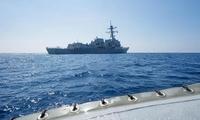 英媒:美舰驶入南海美济礁12海里 可能会激怒中国